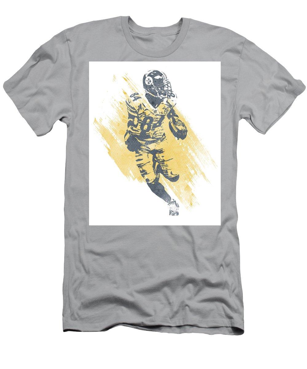 374e6b22 Antonio Brown Pittsburgh Steelers Water Color Art 2 T-Shirt for Sale by Joe  Hamilton
