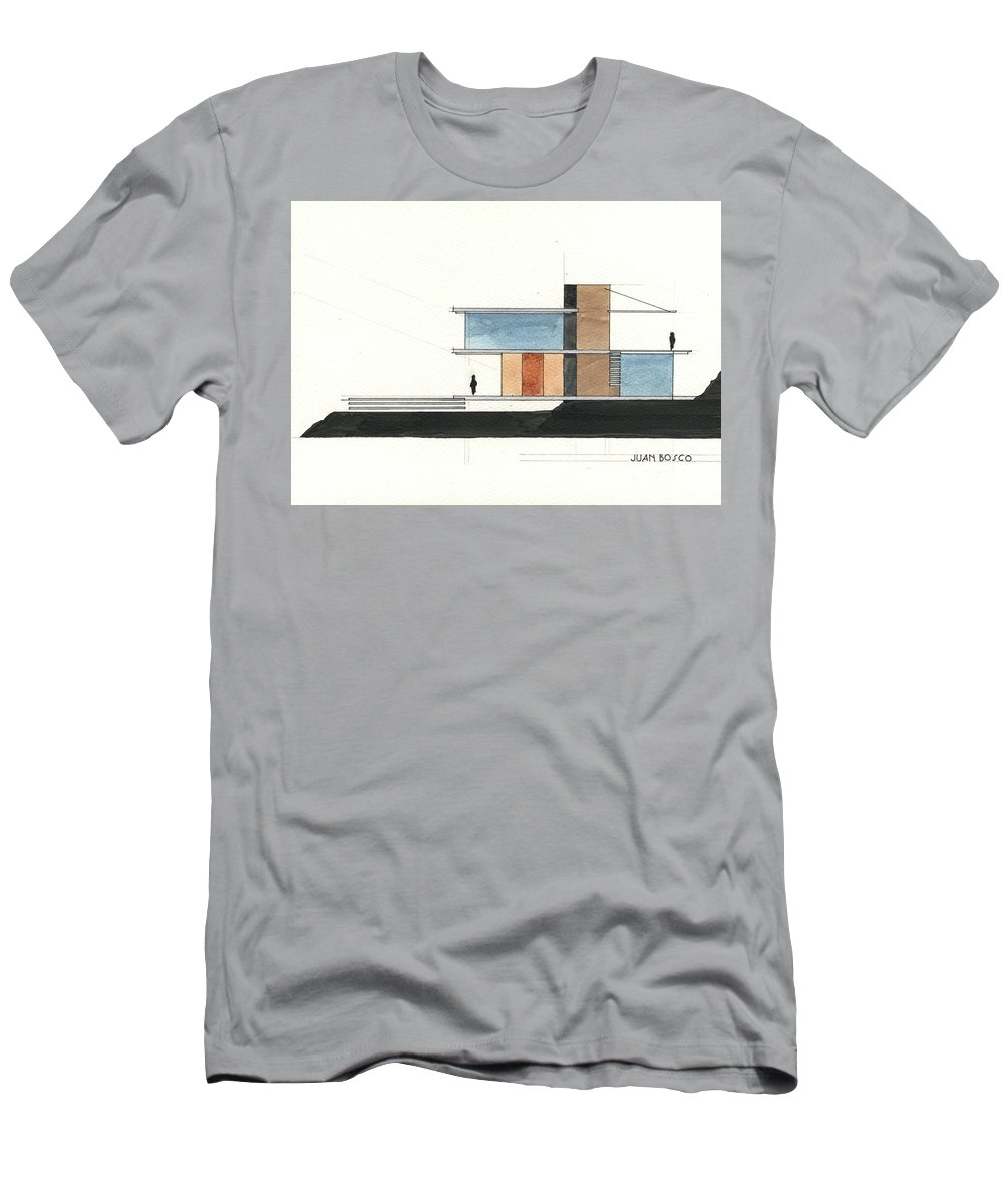 Architectural Drawing Men's T-Shirt (Athletic Fit) featuring the painting Architectural Drawing by Juan Bosco