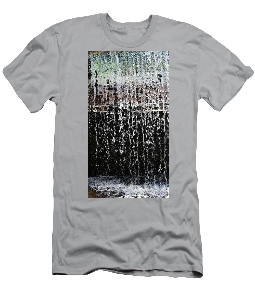 Arizona Falls Men's T-Shirt (Athletic Fit) featuring the photograph Arizona Falls by Tom Janca