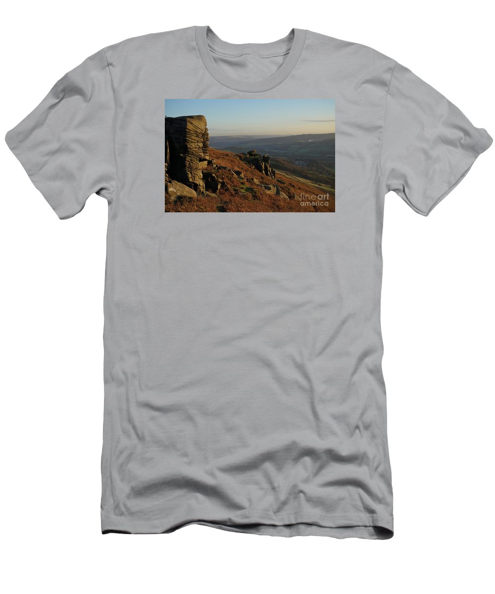 Bamford Edge Men's T-Shirt (Athletic Fit) featuring the photograph Bamford Edge by Smart Aviation