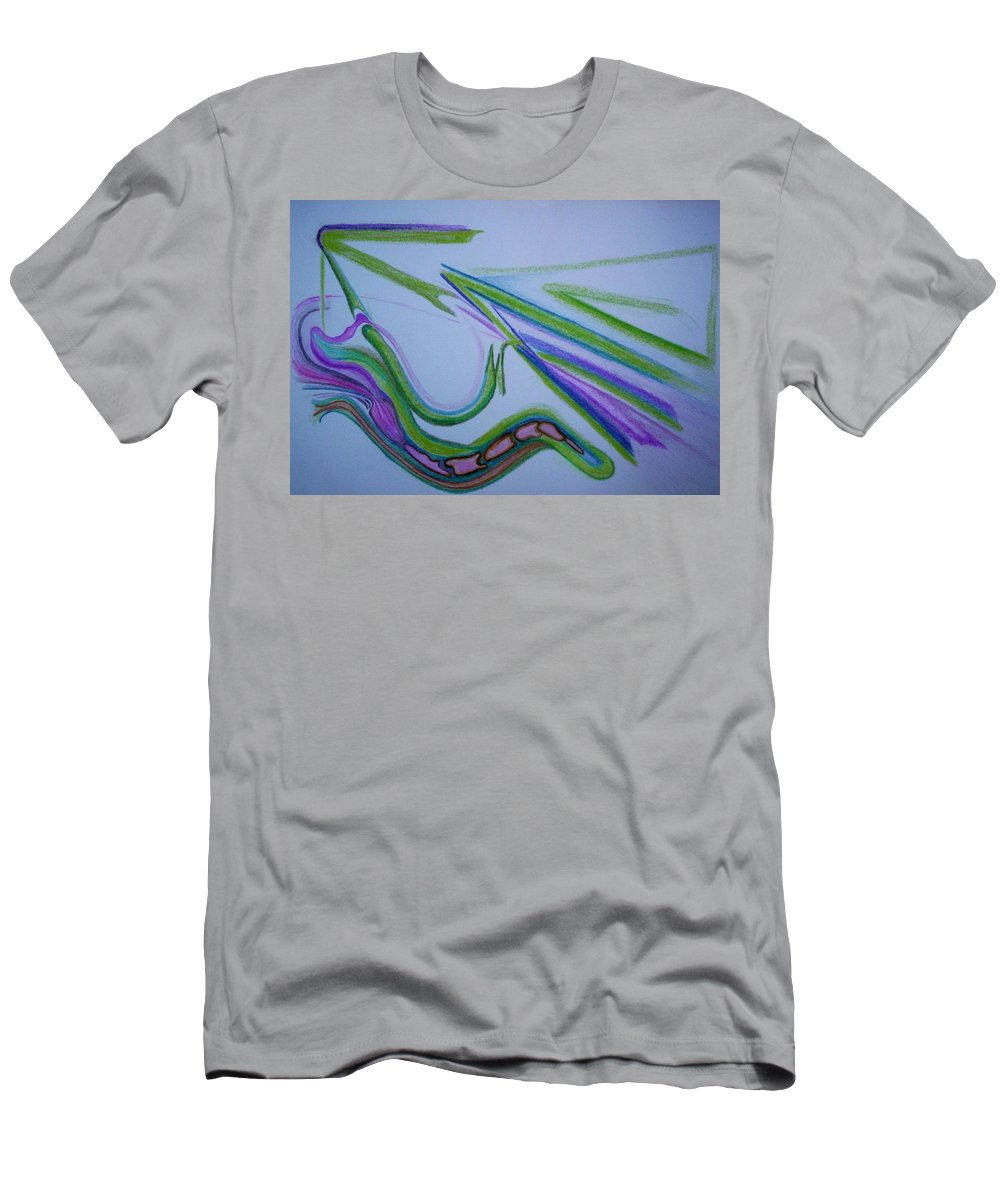 Abstract Men's T-Shirt (Athletic Fit) featuring the drawing Canal by Suzanne Udell Levinger