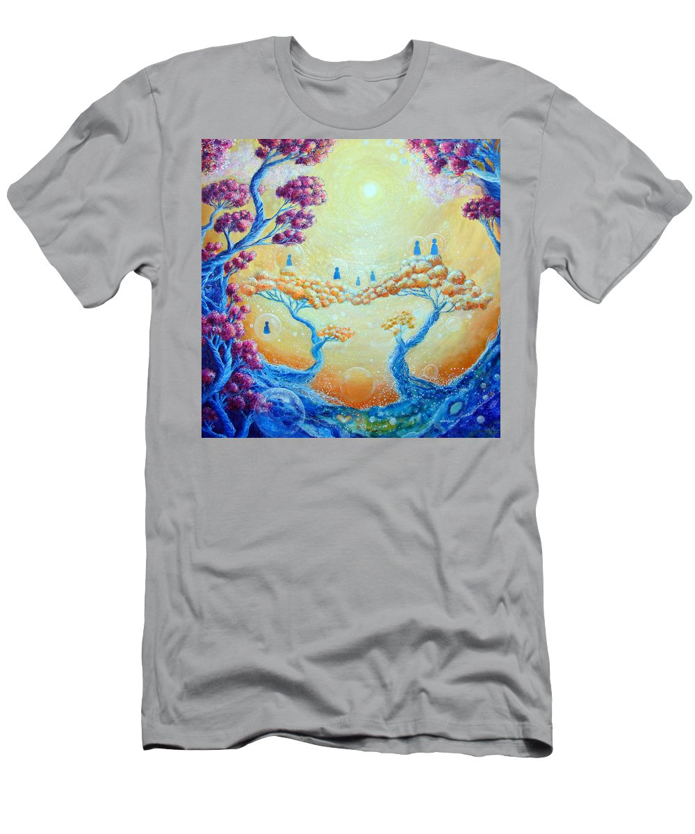 Spiritual Men's T-Shirt (Athletic Fit) featuring the painting Children Of Light by Ashleigh Dyan Bayer