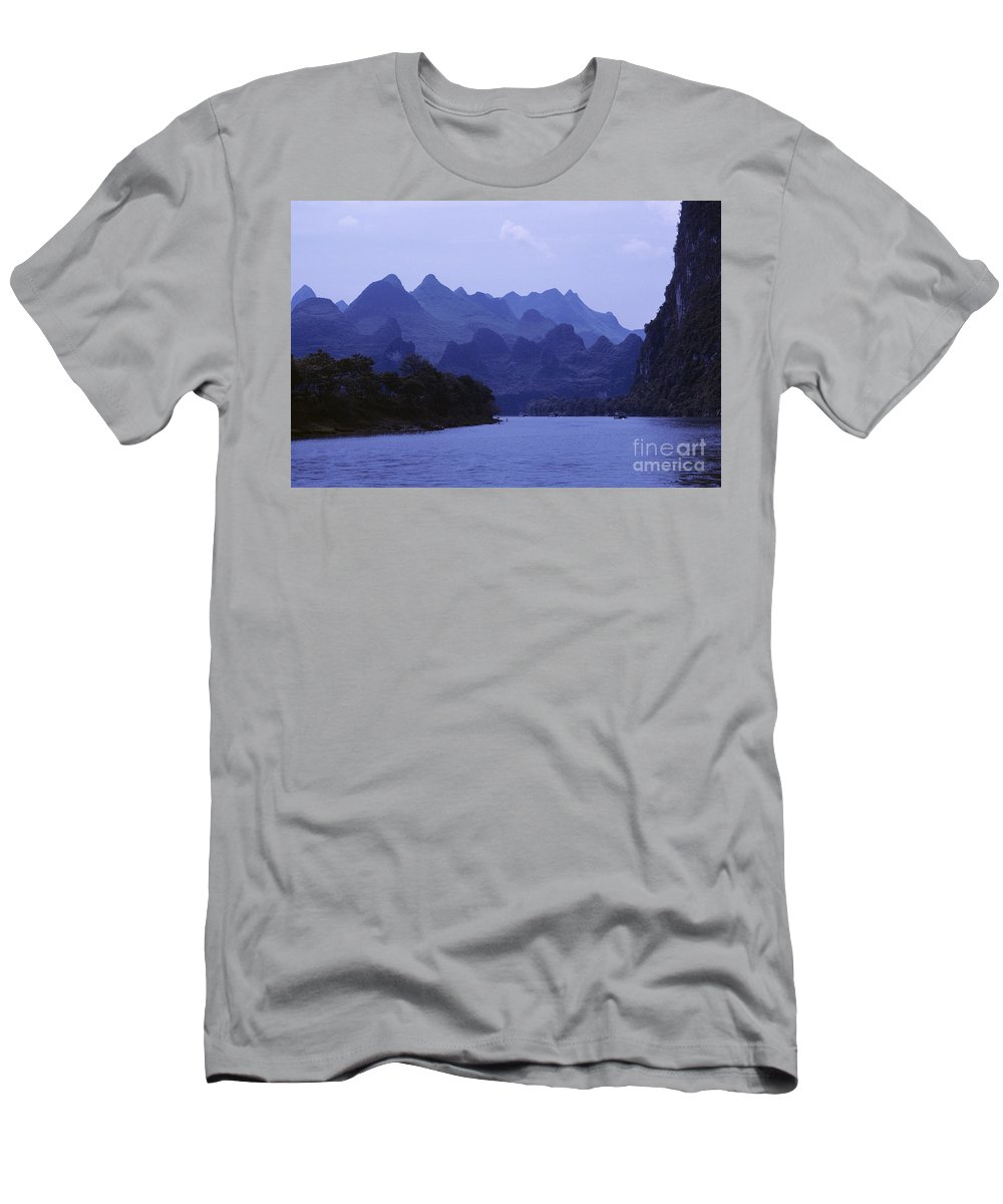 Asian Art Men's T-Shirt (Athletic Fit) featuring the photograph China, Guilin by Larry Dale Gordon - Printscapes
