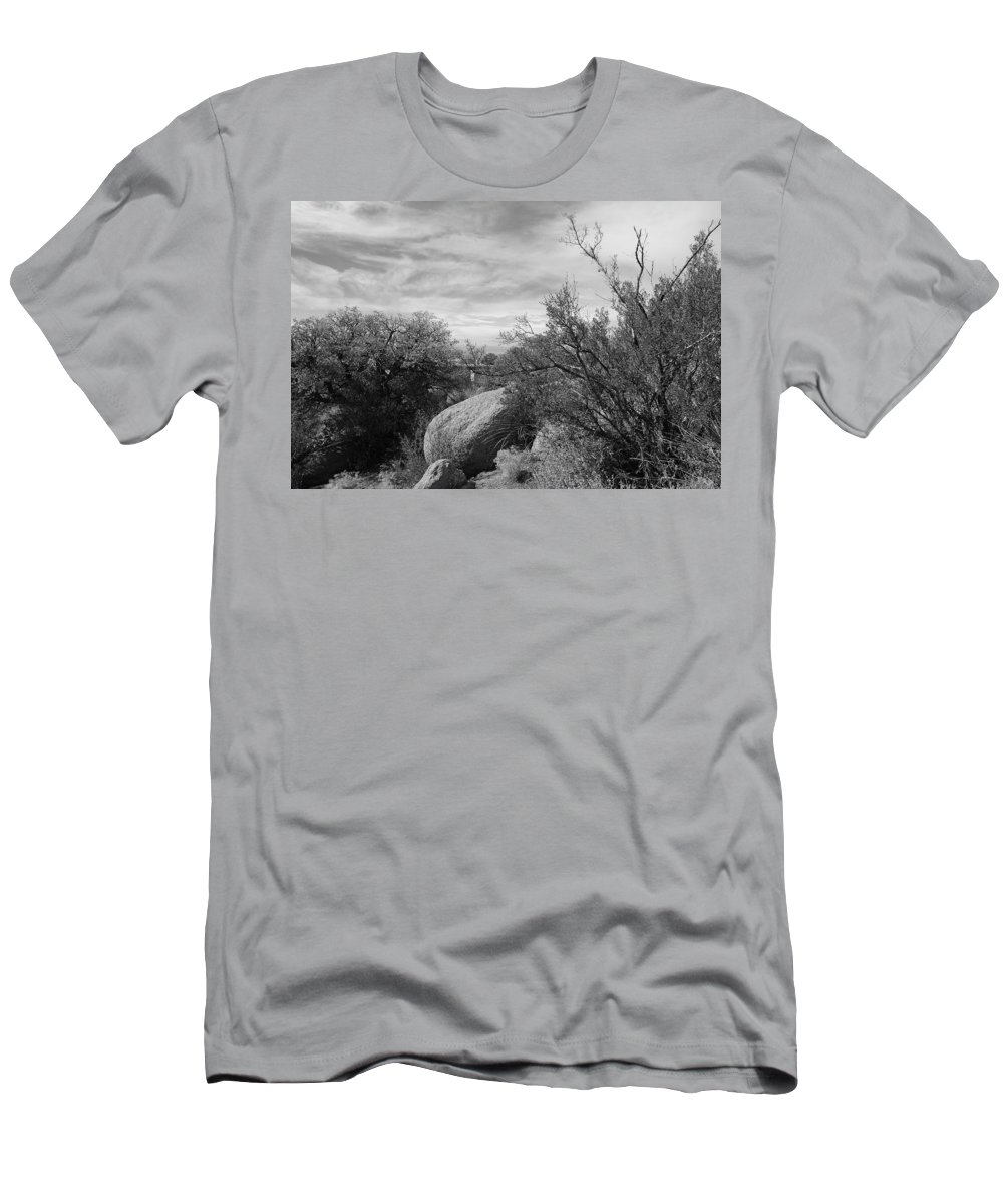 Black And White Men's T-Shirt (Athletic Fit) featuring the photograph Cibola National Forest by Rob Hans