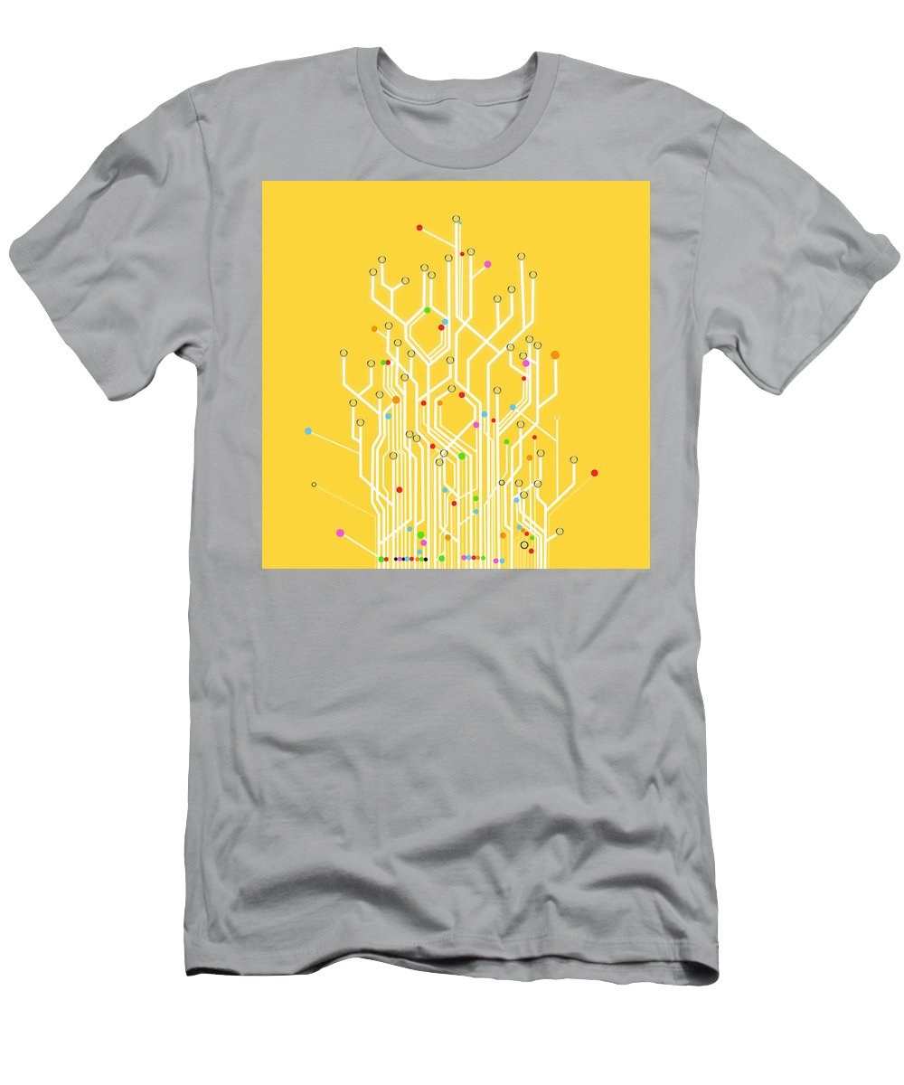 Abstract Men's T-Shirt (Athletic Fit) featuring the photograph Circuit Board Graphic 1 by Setsiri Silapasuwanchai