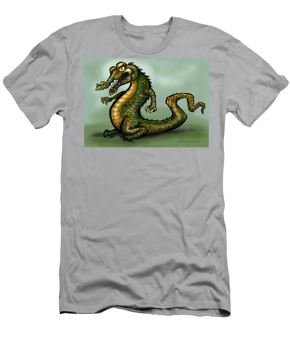 Crocodile Men's T-Shirt (Athletic Fit) featuring the digital art Crocodile by Kevin Middleton