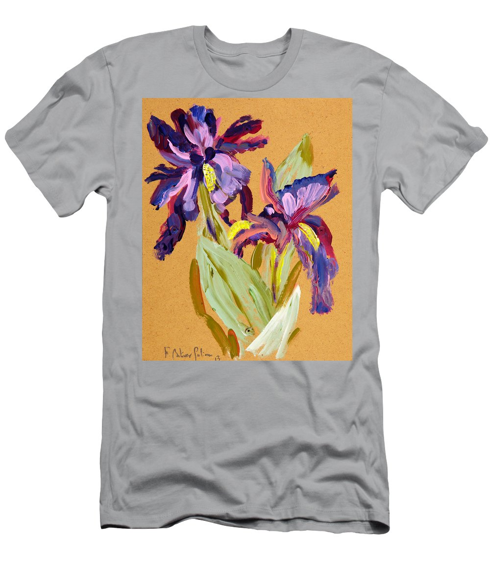 Men's T-Shirt (Athletic Fit) featuring the painting Flowers by Fernando Bolivar
