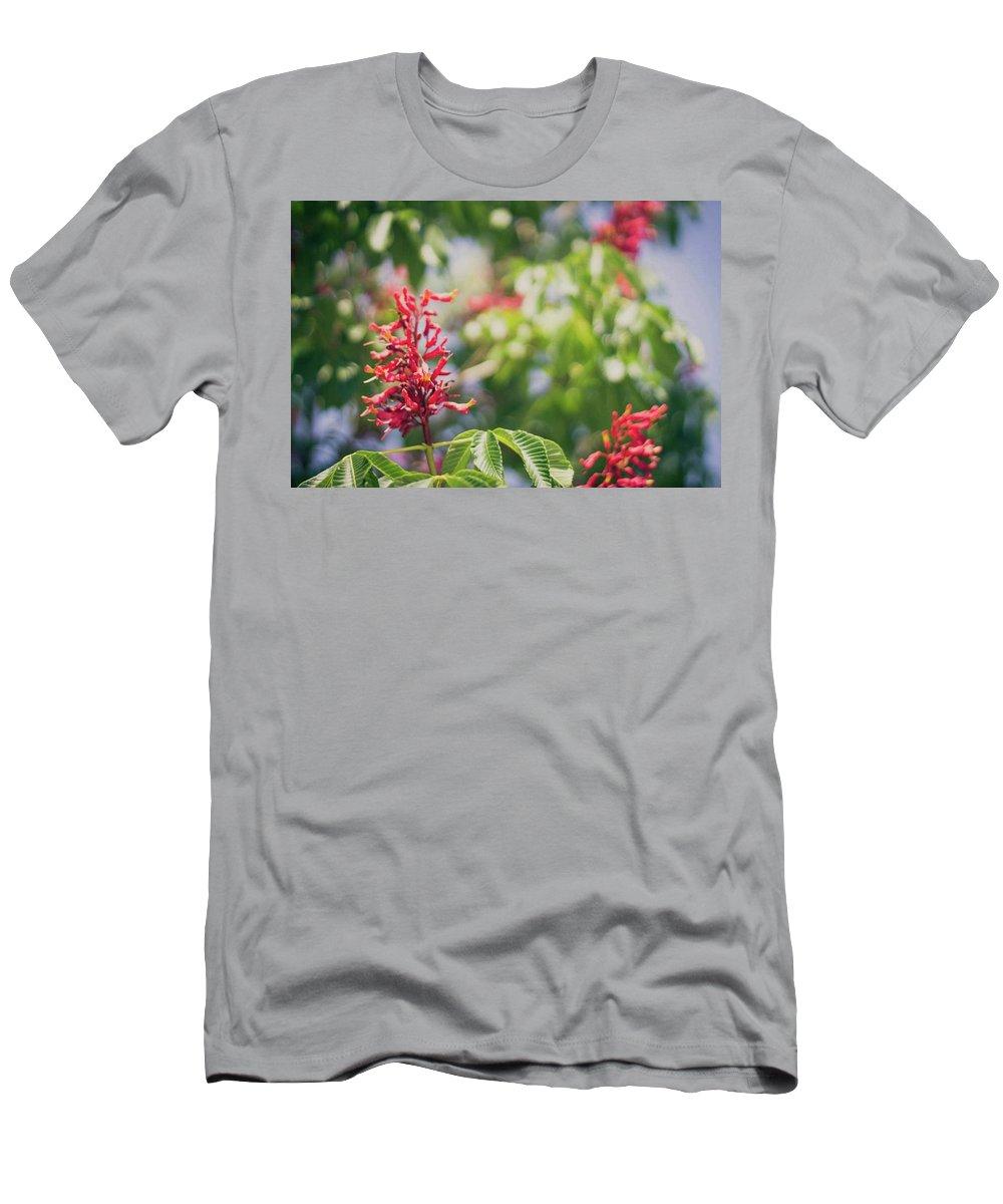 Flowers Men's T-Shirt (Athletic Fit) featuring the photograph Flowers by Jill Ballard