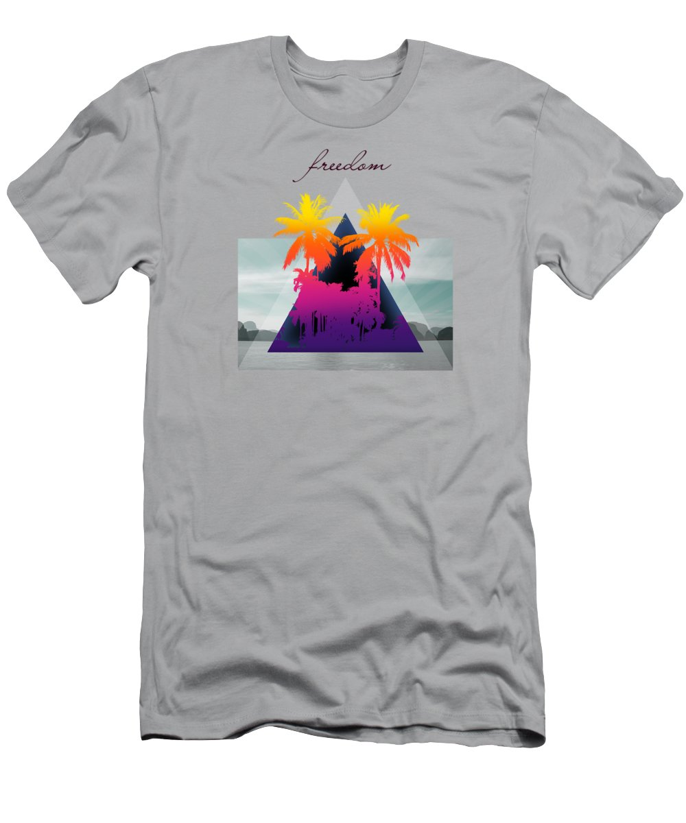 Thailand Men's T-Shirt (Athletic Fit) featuring the photograph Freedom by Mark Ashkenazi