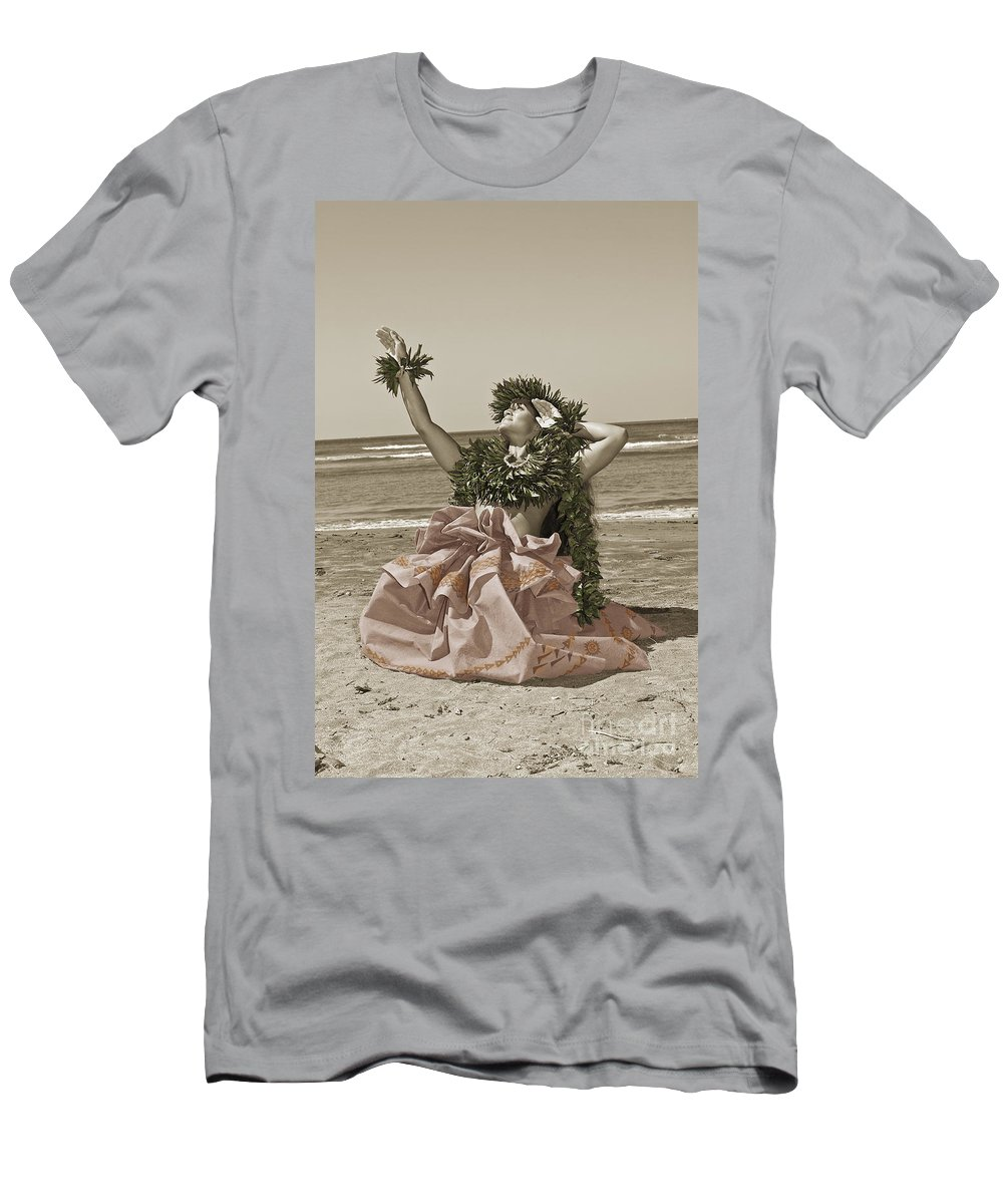 Afternoon Men's T-Shirt (Athletic Fit) featuring the photograph Hand Colored Hula by Himani - Printscapes