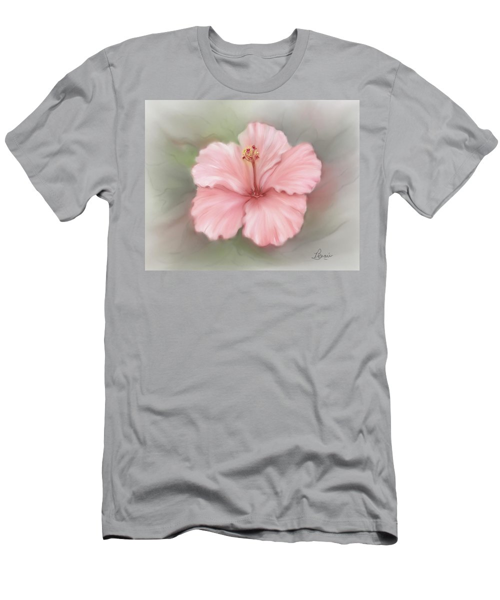 Floral Men's T-Shirt (Athletic Fit) featuring the painting Hibiscus by Bonnie Willis
