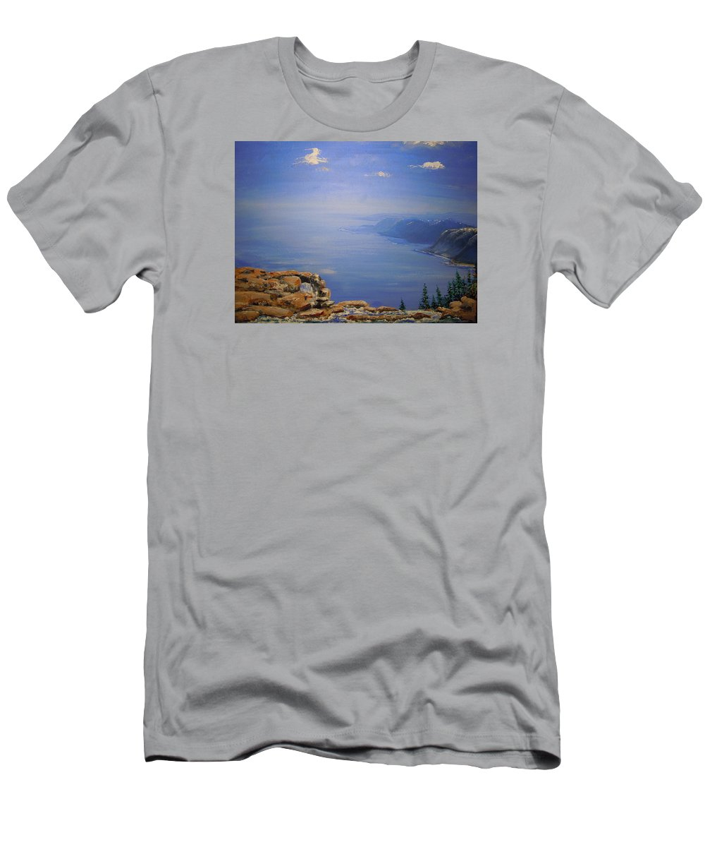 Vista Men's T-Shirt (Athletic Fit) featuring the painting High Above by Dan Whittemore