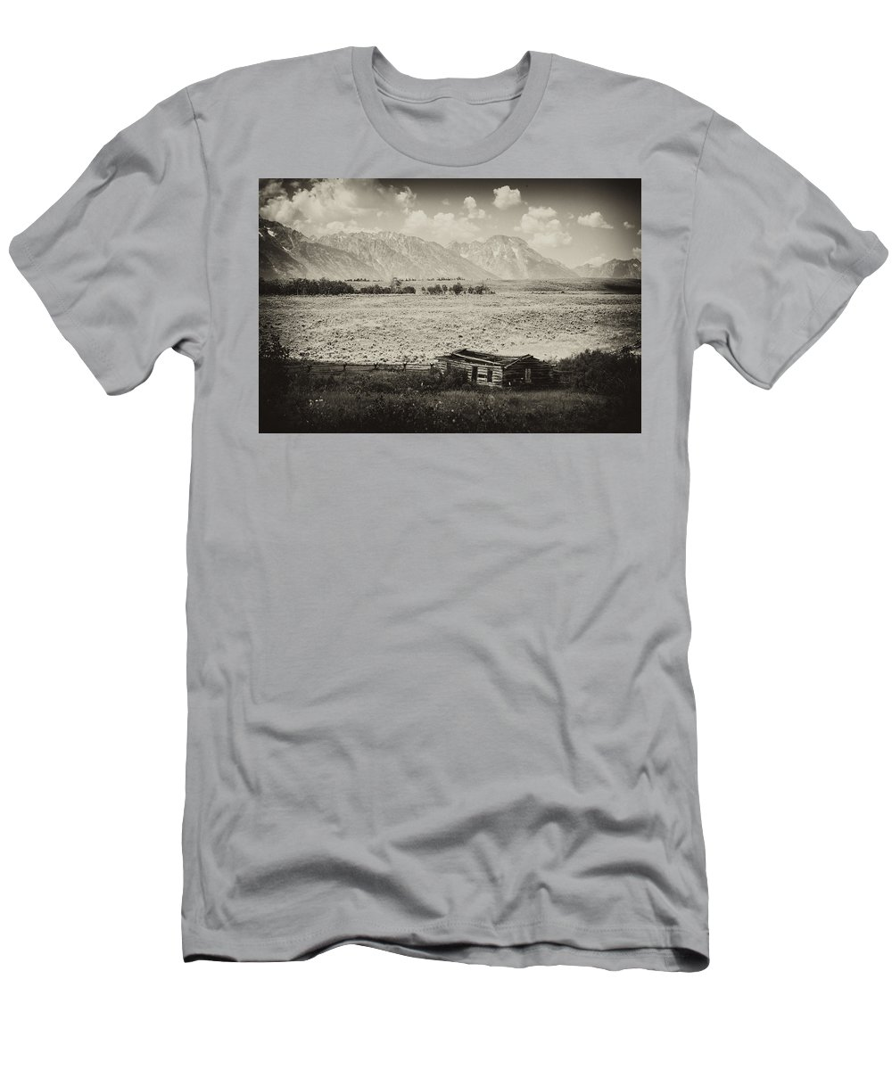 Signal Men's T-Shirt (Athletic Fit) featuring the photograph Homestead In The Grand Tetons by Hugh Smith