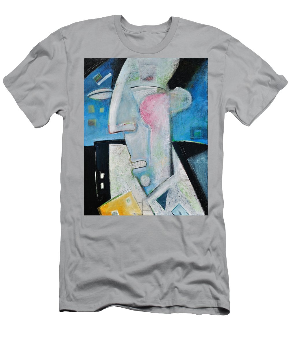 Jazz Men's T-Shirt (Athletic Fit) featuring the painting Jazz Face by Tim Nyberg