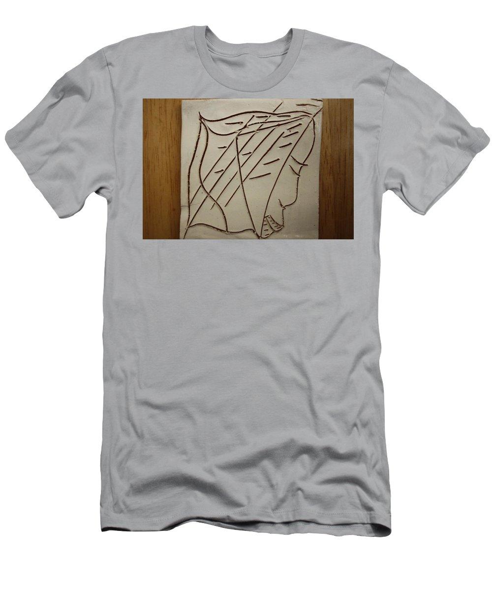 Jesus Men's T-Shirt (Athletic Fit) featuring the ceramic art Jesus - Tile by Gloria Ssali