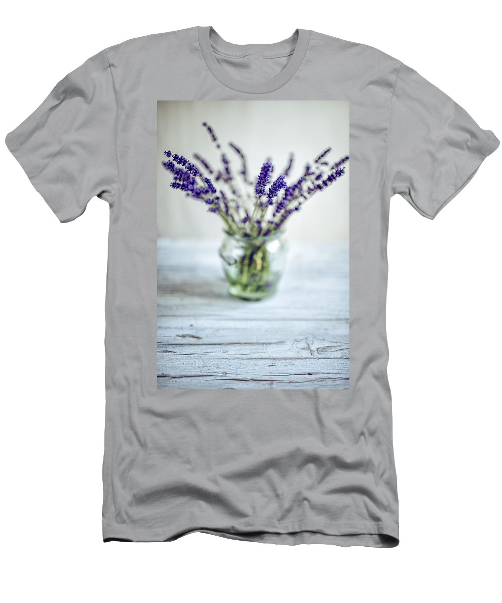 Lavender T-Shirt featuring the photograph Lavender Still Life by Nailia Schwarz