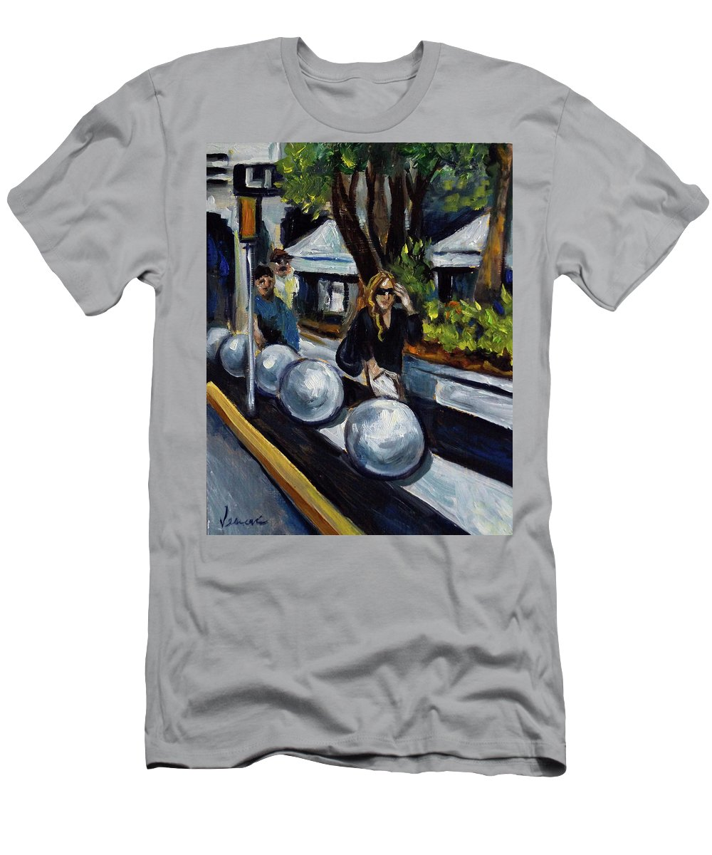 Sobe T-Shirt featuring the painting Lincoln Road by Valerie Vescovi