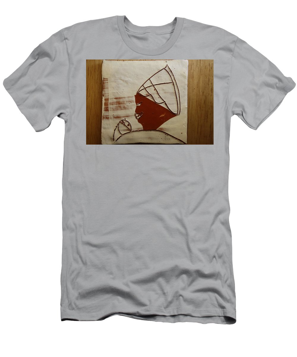 Jesus Men's T-Shirt (Athletic Fit) featuring the ceramic art Mama 6 - Tile by Gloria Ssali