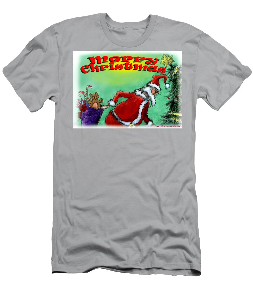 Christmas Men's T-Shirt (Athletic Fit) featuring the digital art Merry Christmas by Kevin Middleton