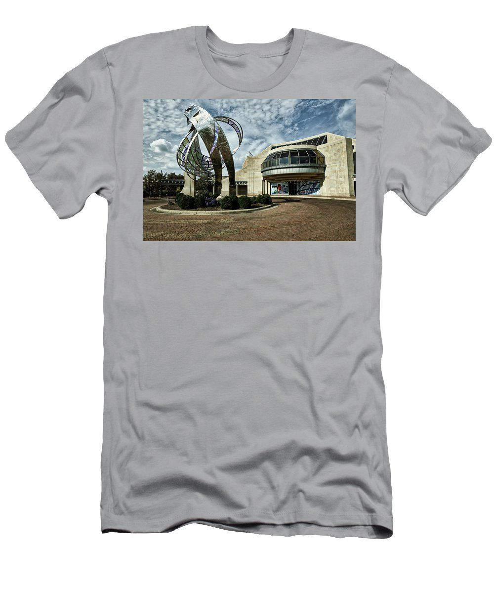 Minnestrista Men's T-Shirt (Athletic Fit) featuring the photograph Minnestrista Museum - Muncie Indiana by Mountain Dreams