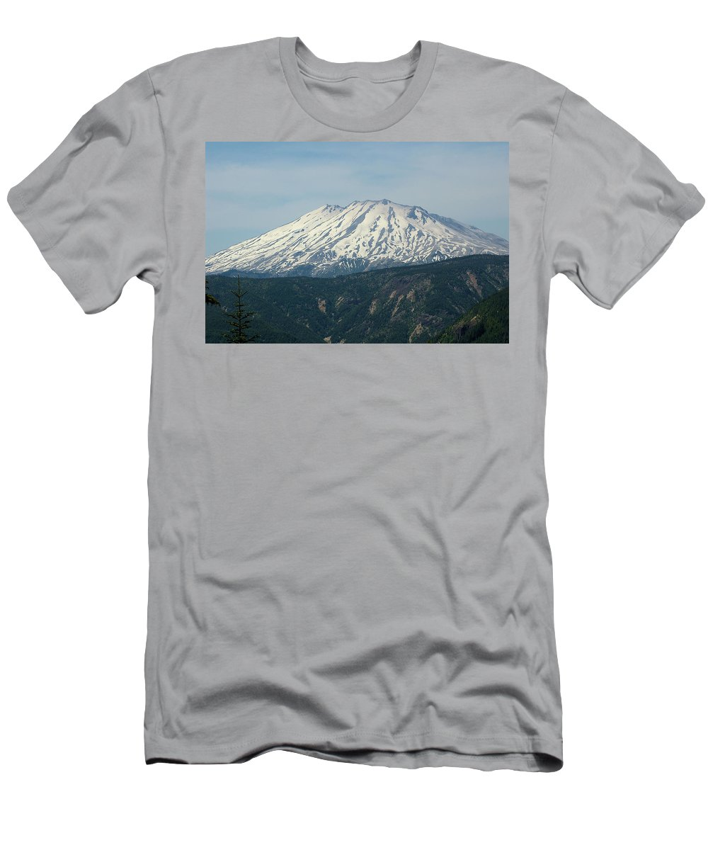 Mountains Men's T-Shirt (Athletic Fit) featuring the photograph Mt St Helens by Jeff Swan