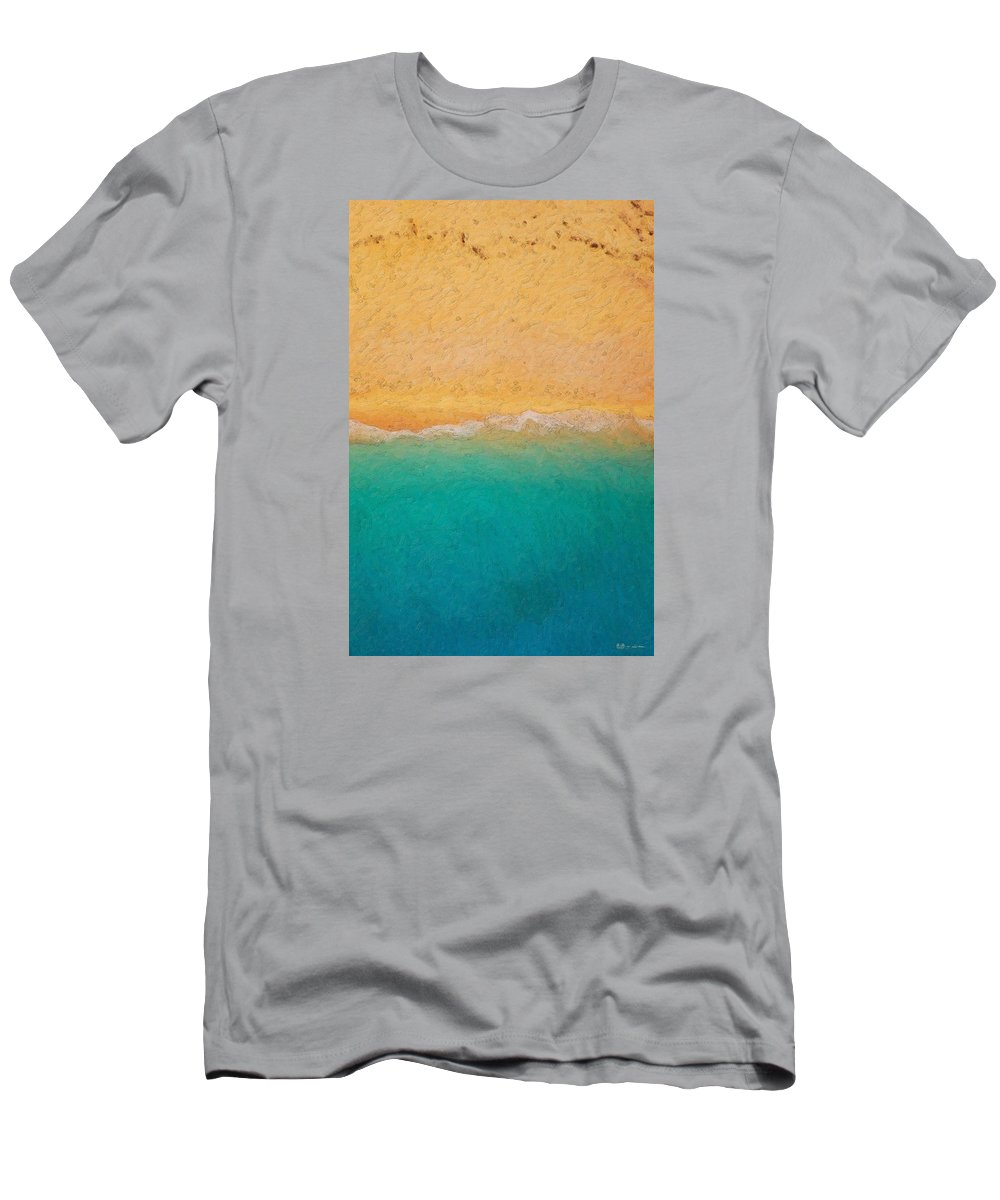 �not Quite Rothko� Collection By Serge Averbukh T-Shirt featuring the photograph Not quite Rothko - Surf and Sand by Serge Averbukh