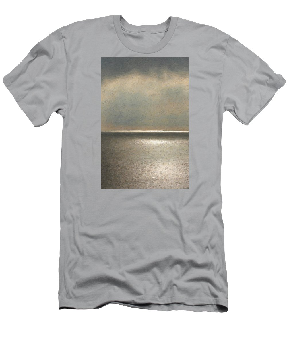 �not Quite Rothko� Collection By Serge Averbukh T-Shirt featuring the photograph Not quite Rothko - Twilight Silver by Serge Averbukh