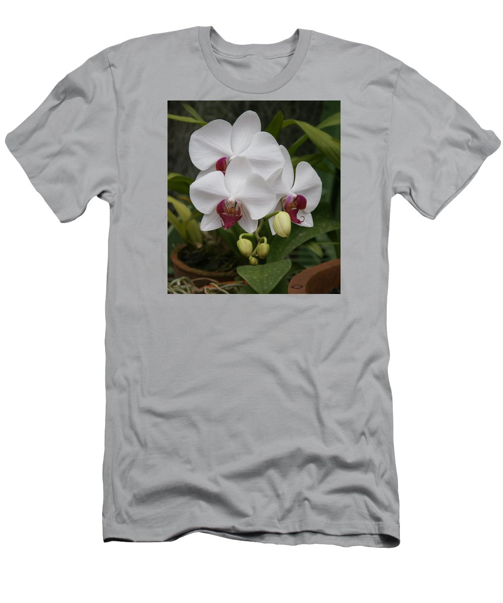 Orchid Men's T-Shirt (Athletic Fit) featuring the photograph Orchid by Olaf Christian