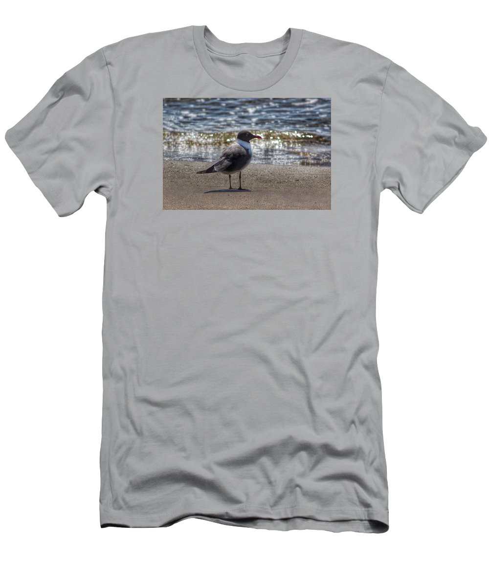 Padre Island National Seashore Men's T-Shirt (Athletic Fit) featuring the photograph Padre Island National Seashore by Linda Anderson