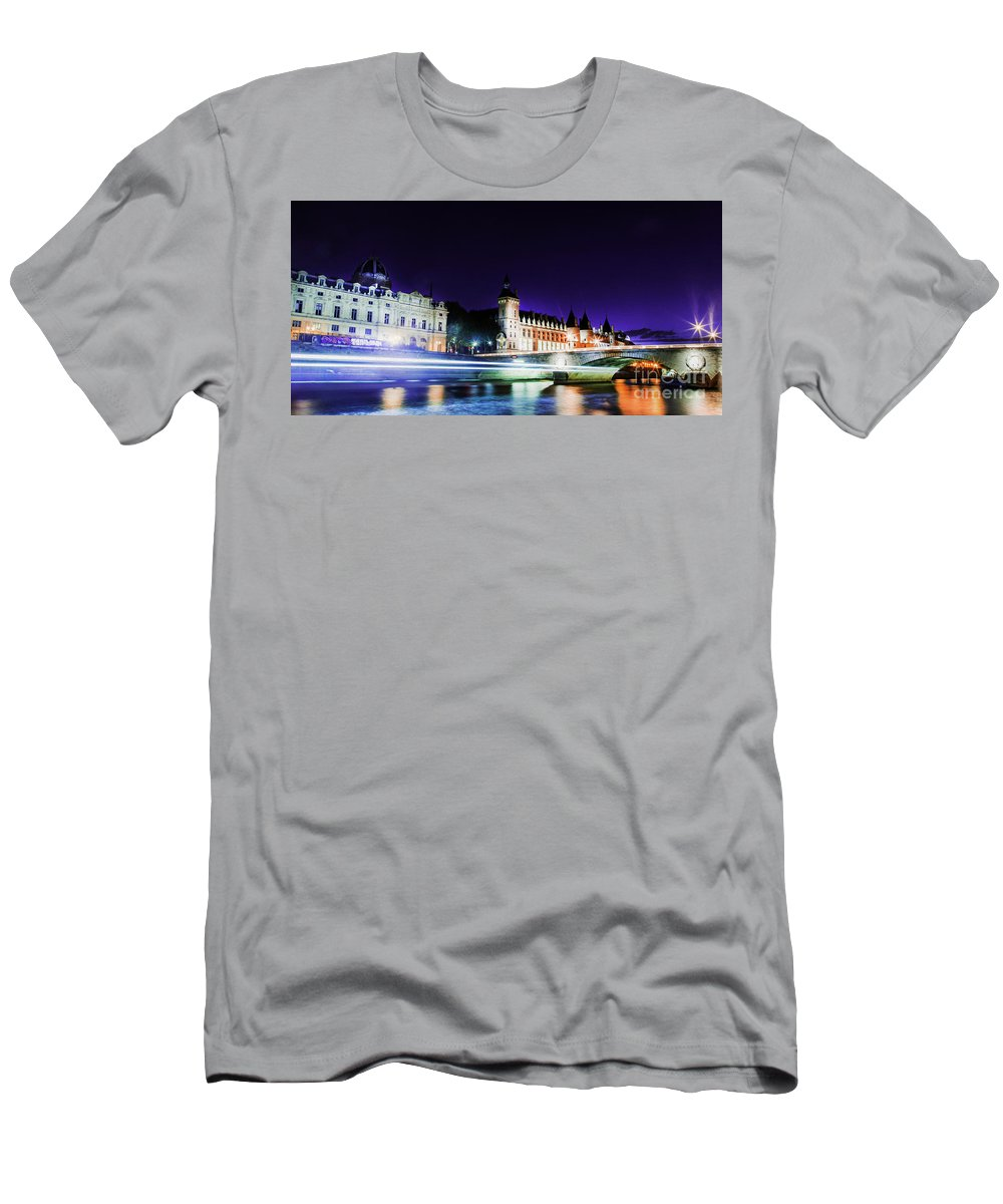 Paris Men's T-Shirt (Athletic Fit) featuring the photograph Paris At Night 15 Art by Alex Art and Photo