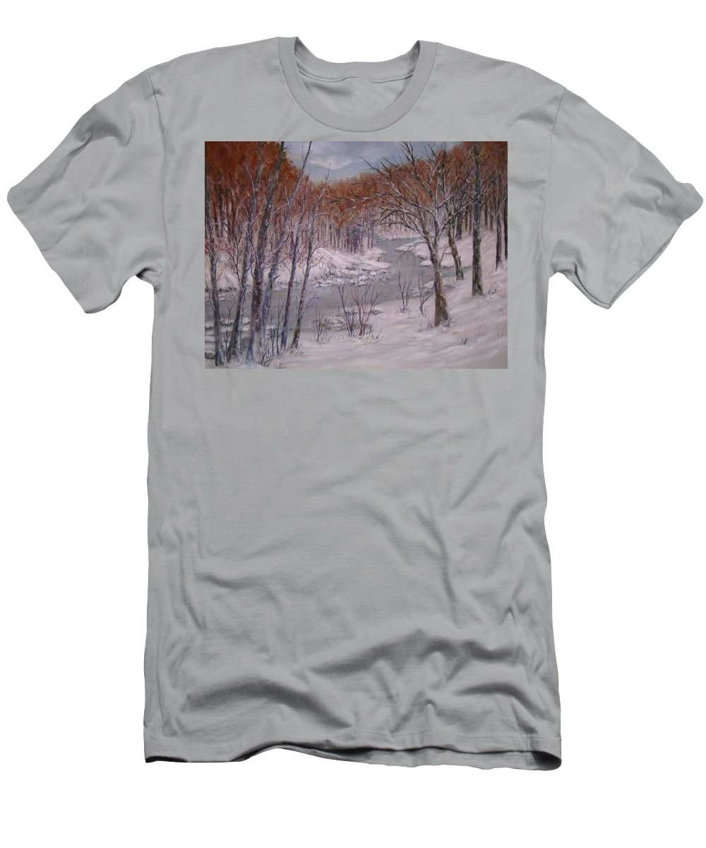Snow; Landscape T-Shirt featuring the painting Peace And Quiet by Ben Kiger