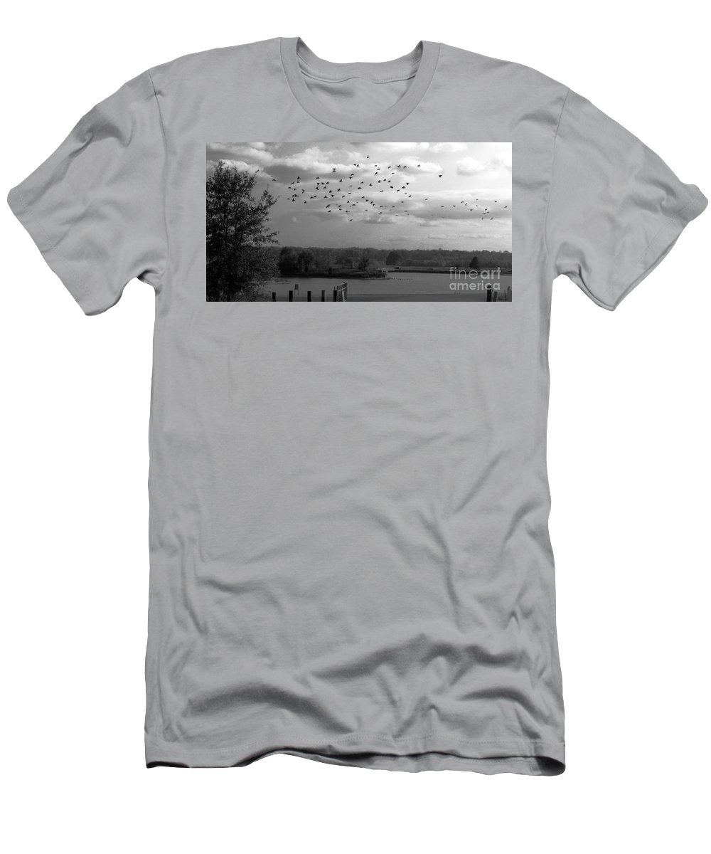 Pond Men's T-Shirt (Athletic Fit) featuring the photograph Pond by Amanda Barcon