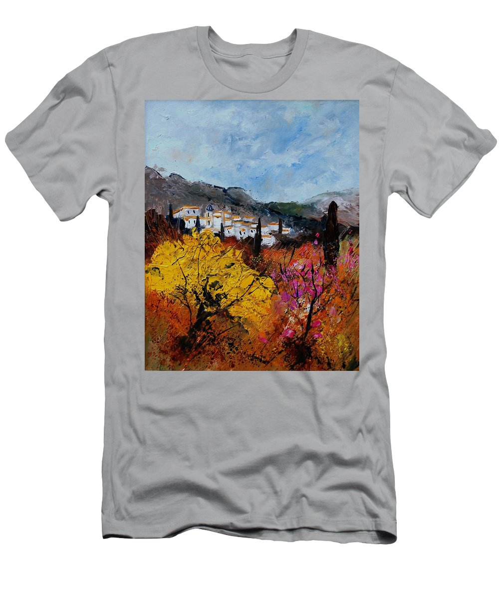 Provence Men's T-Shirt (Athletic Fit) featuring the painting Provence by Pol Ledent