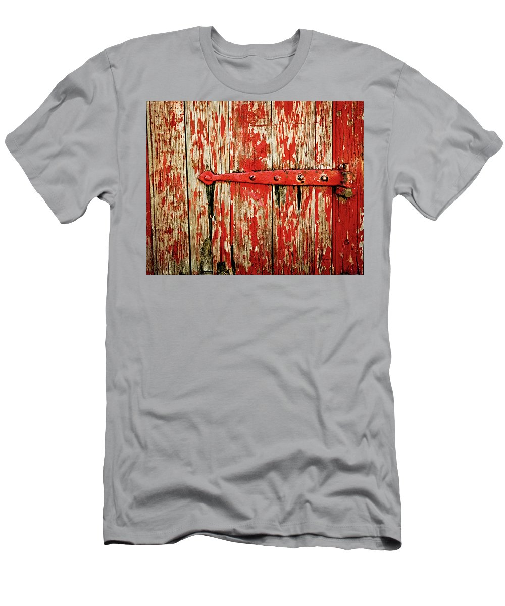 Red Men's T-Shirt (Athletic Fit) featuring the photograph Red Paint by Perry Webster
