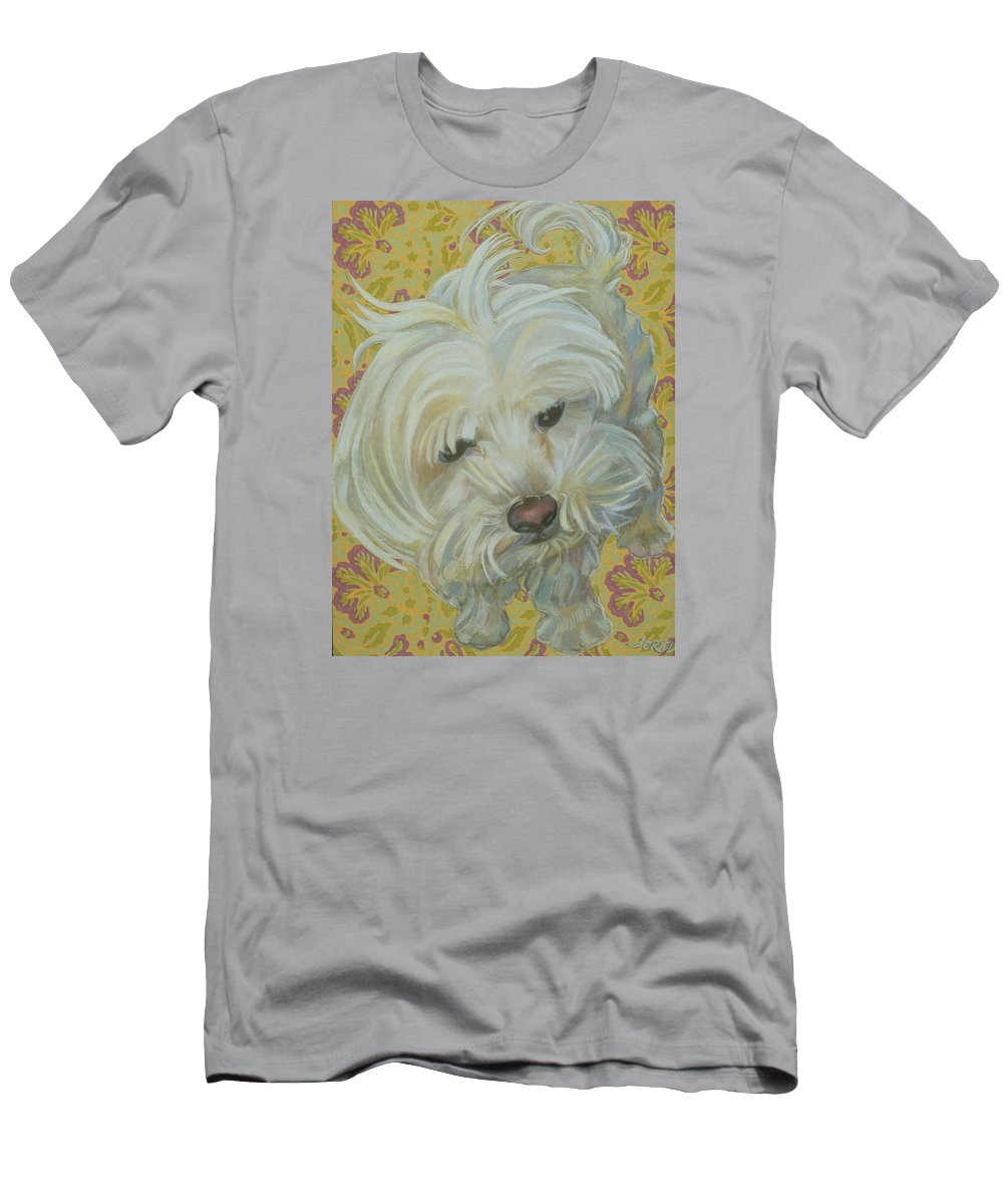 Shit-zu Men's T-Shirt (Athletic Fit) featuring the painting Shih Tzu by Jane Oriel