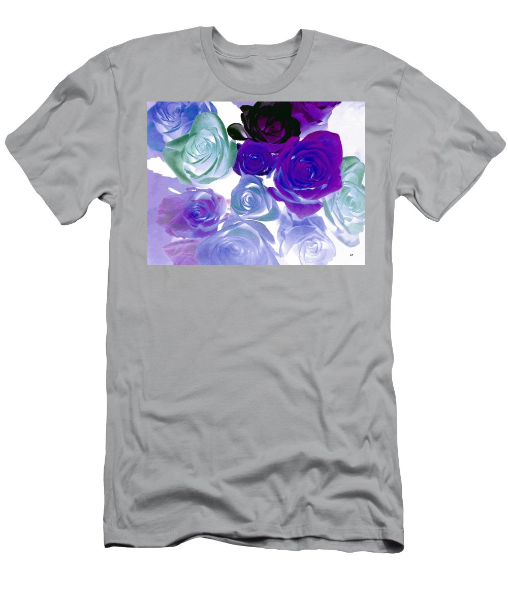 Roses Men's T-Shirt (Athletic Fit) featuring the digital art Scent By The Dozen by Will Borden