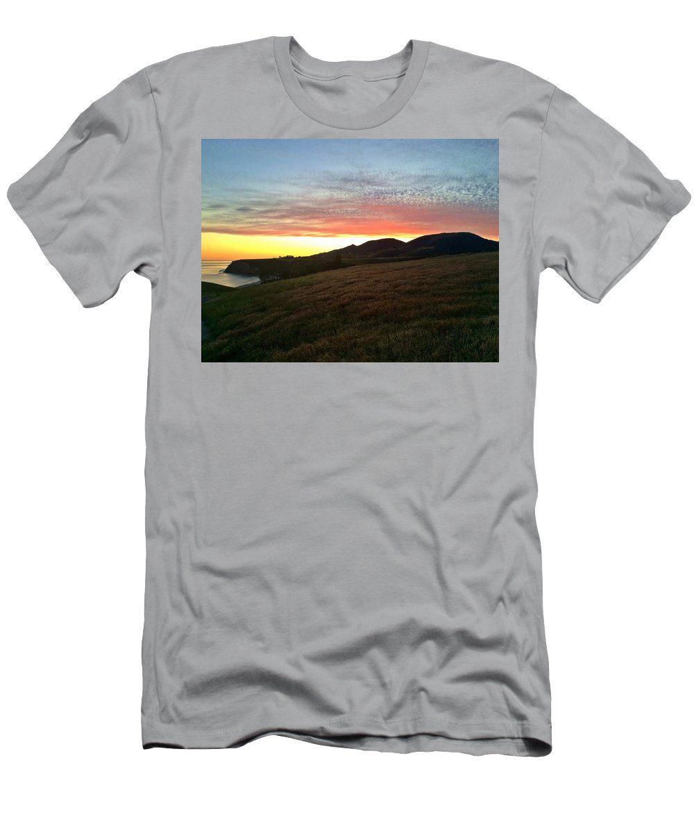 Landscape Men's T-Shirt (Athletic Fit) featuring the photograph Soft Glow by JoJo Brown