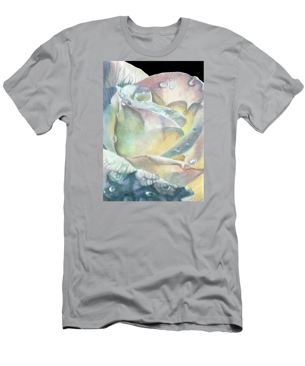 Dew Drops Men's T-Shirt (Athletic Fit) featuring the painting Sparkler by Barbara Keith