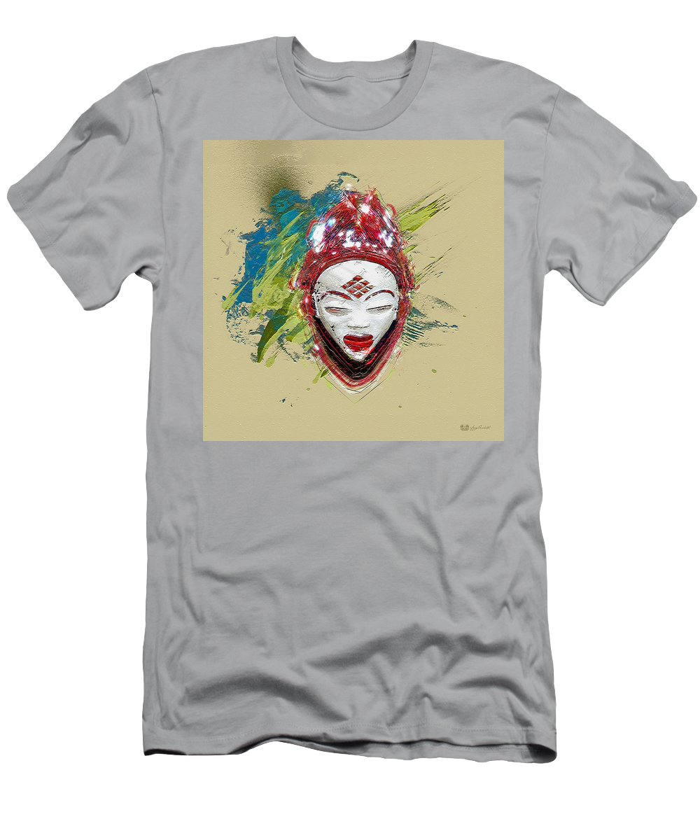 Star Spirits By Serge Averbukh Men's T-Shirt (Athletic Fit) featuring the photograph Star Spirits - Maiden Spirit Mukudji by Serge Averbukh