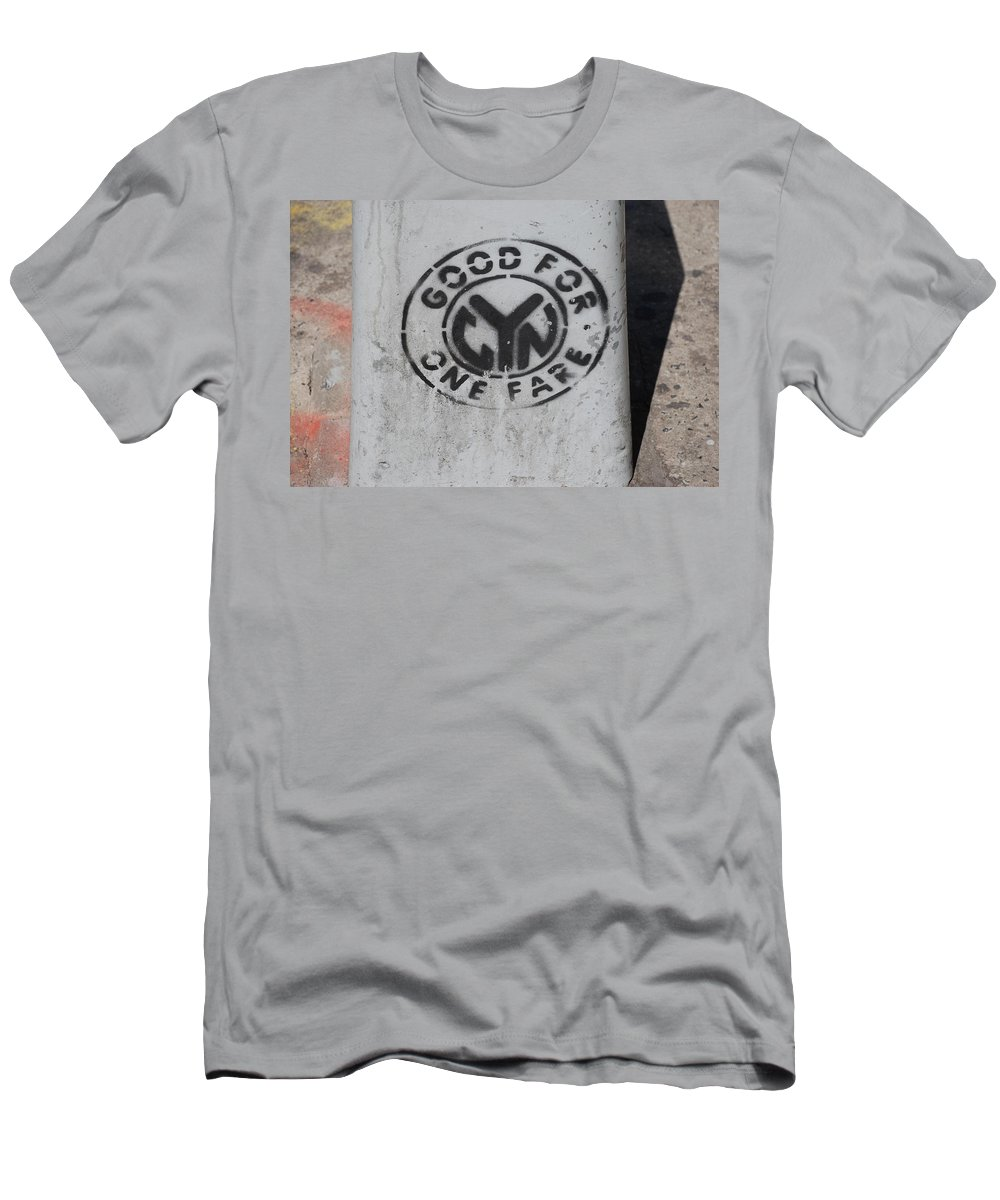 Subway Token Men's T-Shirt (Athletic Fit) featuring the photograph Subway Token by Rob Hans