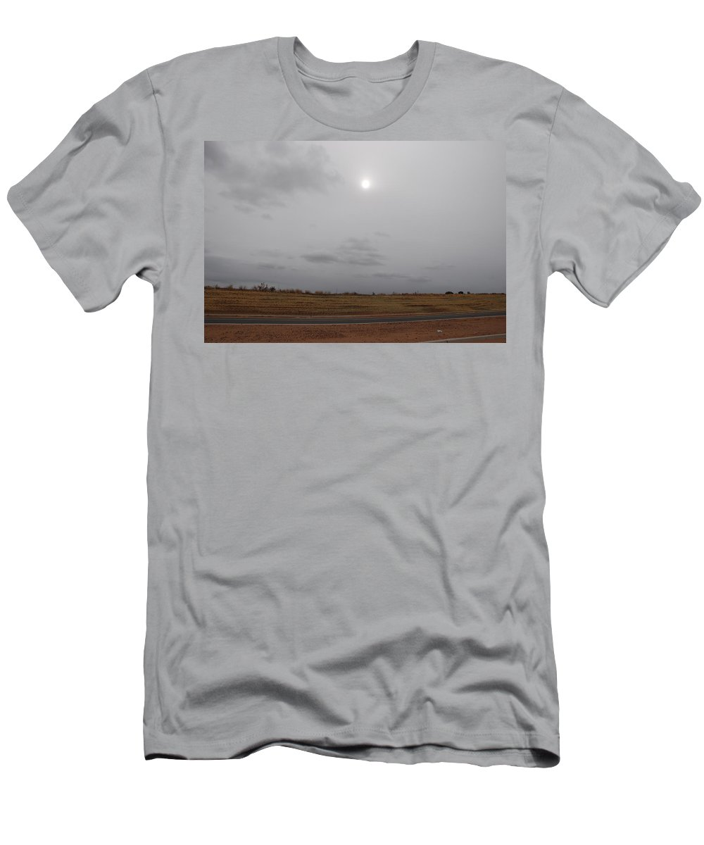 Desert Men's T-Shirt (Athletic Fit) featuring the photograph Sunset In The Desert by Rob Hans