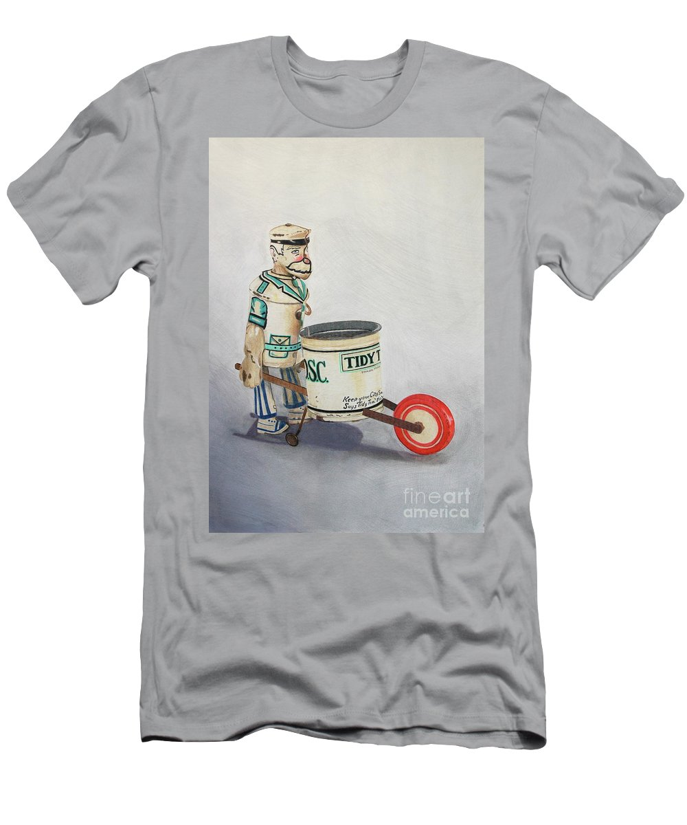 Drawing Men's T-Shirt (Athletic Fit) featuring the drawing Tidy Tim by Glenda Zuckerman