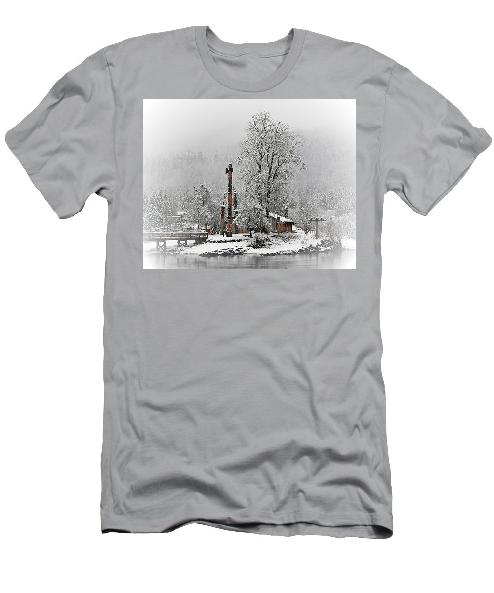 Tribal House Men's T-Shirt (Athletic Fit) featuring the photograph Tranquility by Ivan Simonek