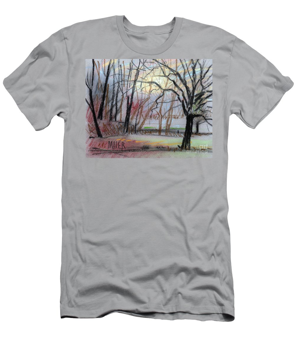 Landscape Men's T-Shirt (Athletic Fit) featuring the drawing Turner South by Donald Maier