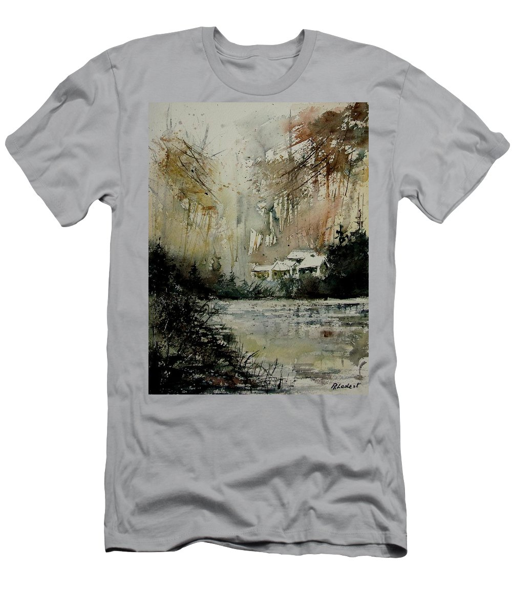 Water Men's T-Shirt (Athletic Fit) featuring the painting Watercolor 070608 by Pol Ledent