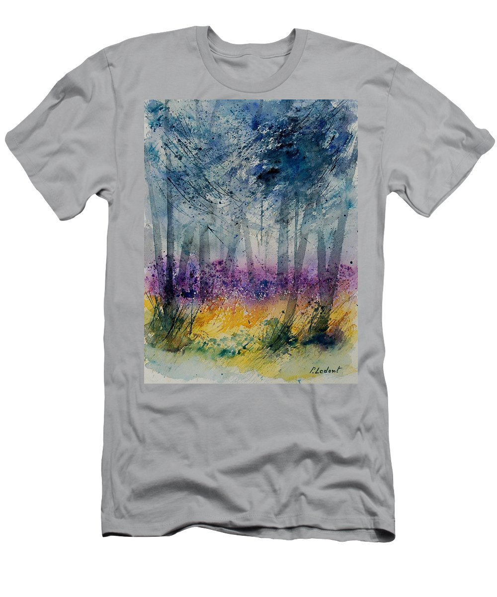 Flowers Men's T-Shirt (Athletic Fit) featuring the painting Watercolor 130608 by Pol Ledent