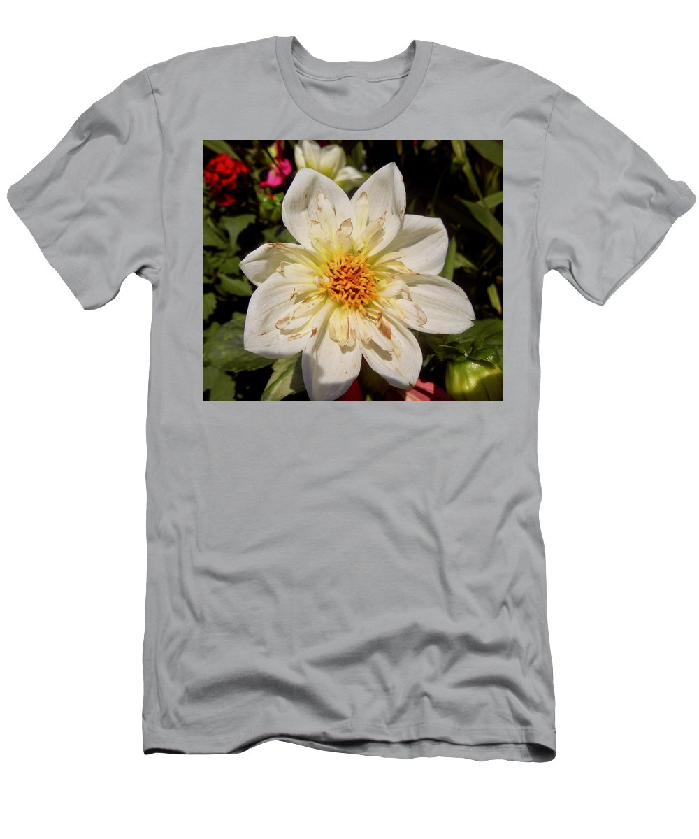Flower Men's T-Shirt (Athletic Fit) featuring the photograph White Flower by Stephanie Moore