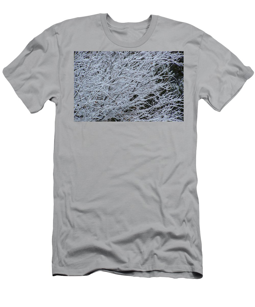 Winter Men's T-Shirt (Athletic Fit) featuring the photograph Winter At Dusk by Pamela Walrath