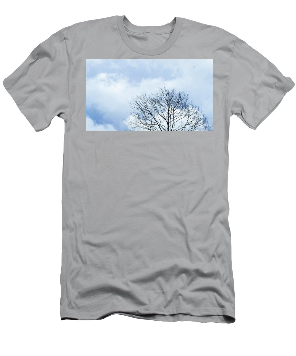 Winter Fall White Sky T-Shirt featuring the photograph Winter Tree by Adelista J