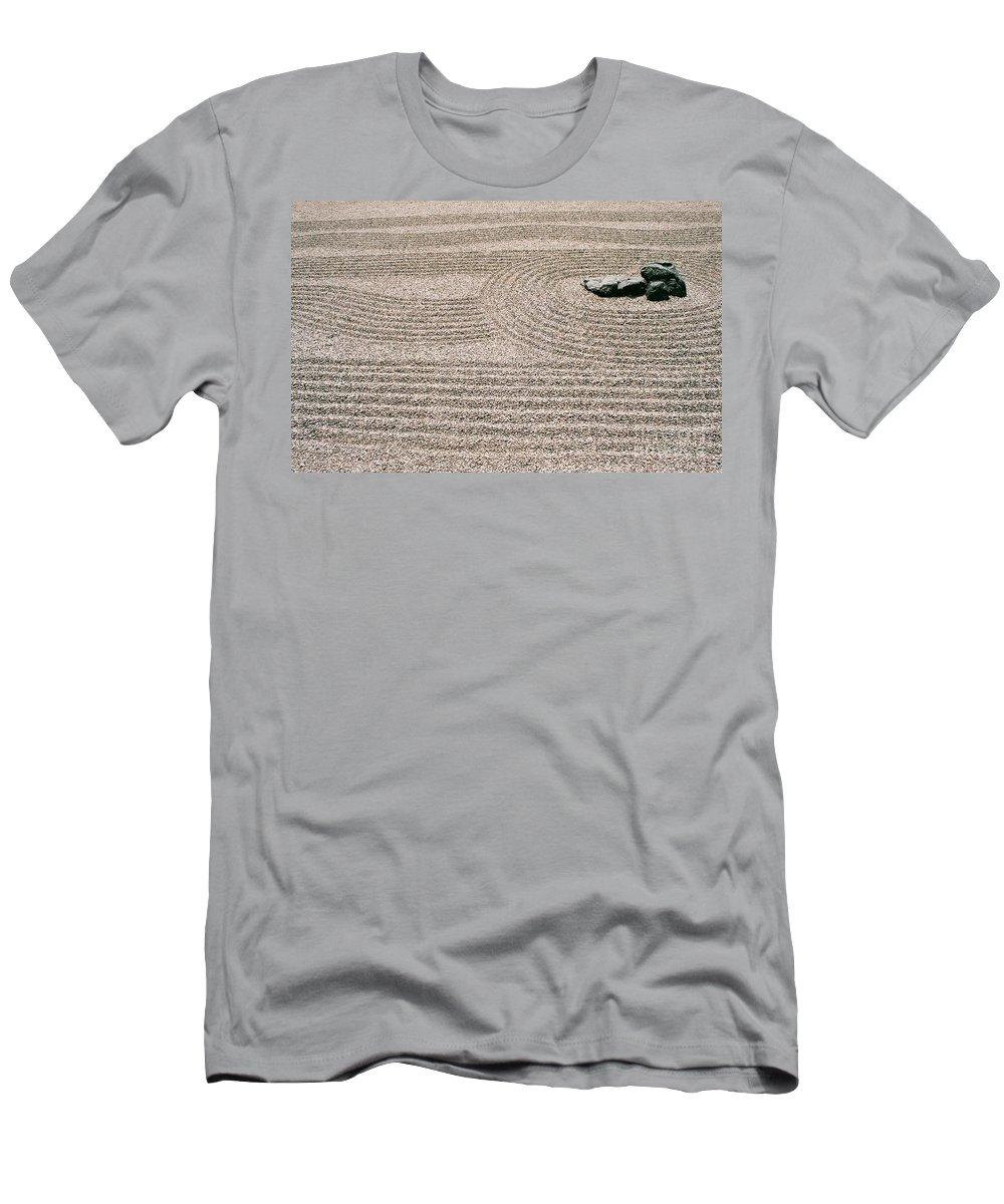 Zen Men's T-Shirt (Athletic Fit) featuring the photograph Zen Garden by Dean Triolo